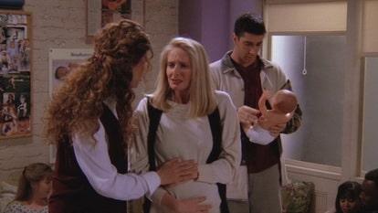 Росс на занятиях для беременных